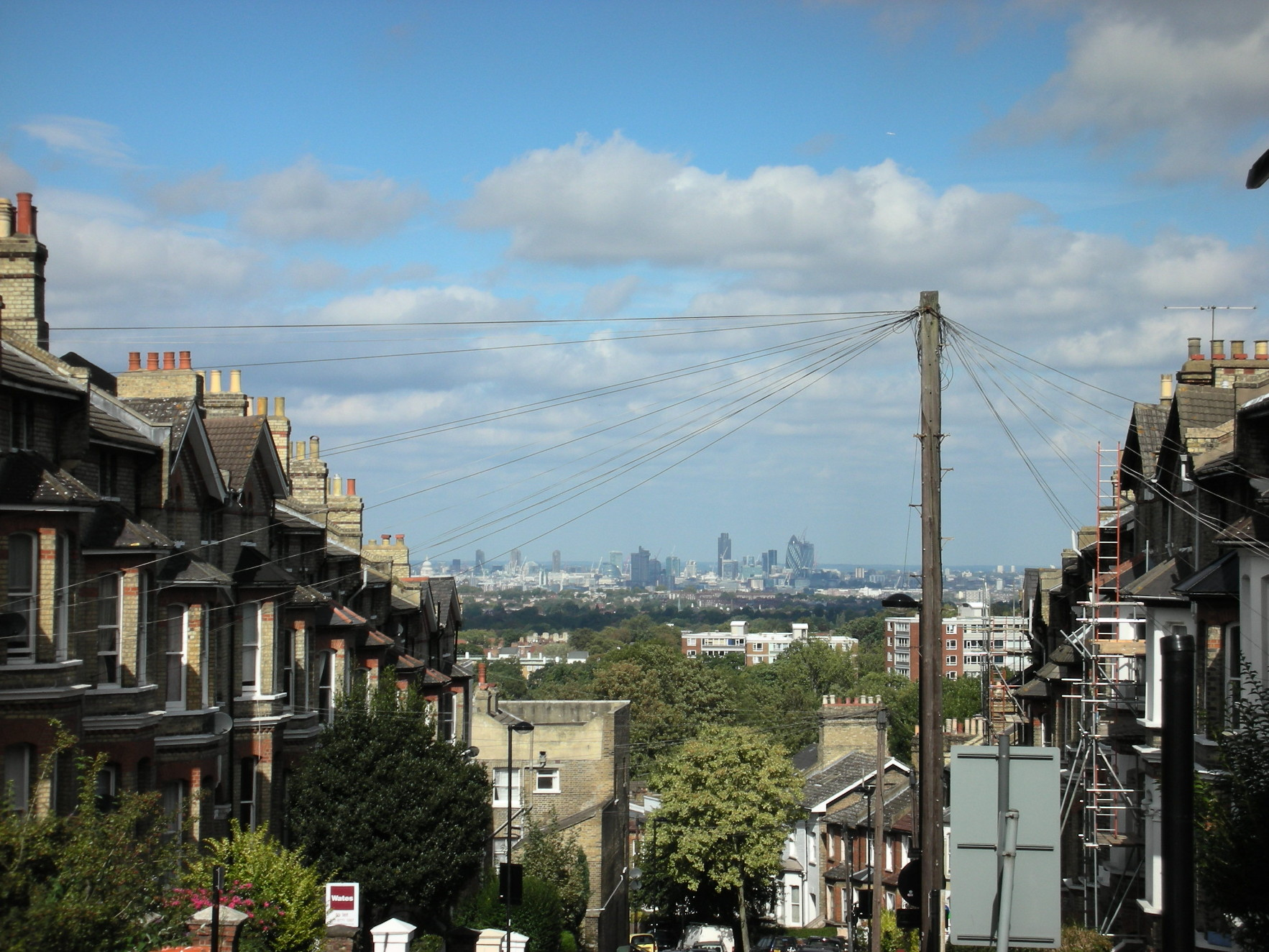View of London with houses and flats