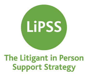 Logo for the Litigant in Person Support Strategy