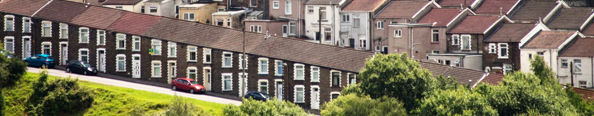 welsh valleys houses photo
