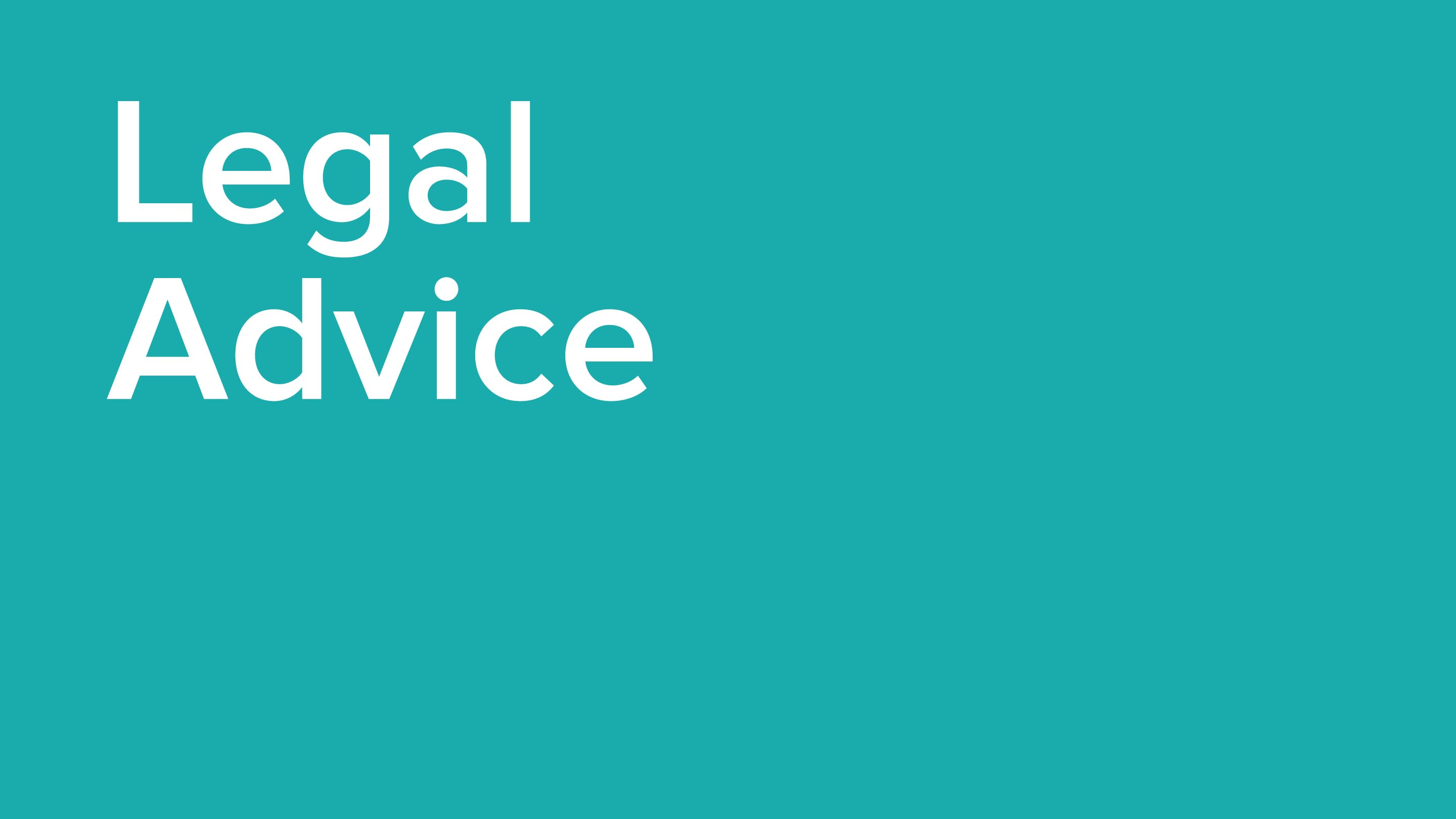 Legal advice button image