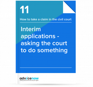 Interim applications - How to ask a court to do something thumbnail