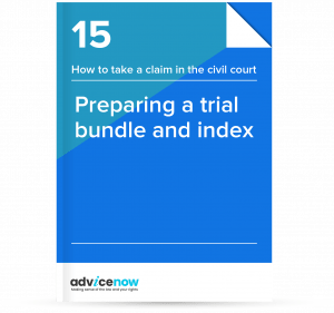 Preparing a trial bundle and index - thumbnail of guide