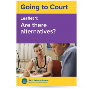 Going to Court: Are there alternatives?