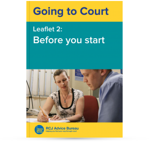 Going to Court: Before you start