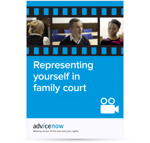 Representing yourself in family court