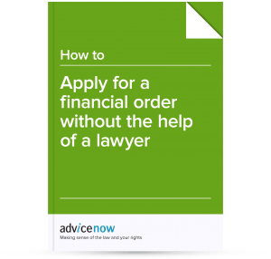Applying for a financial order