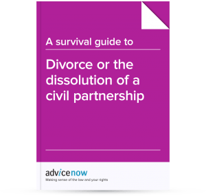 Divorce or the dissolution of a civil partnership
