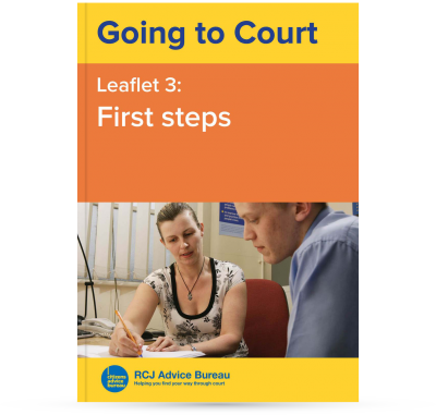 Going to Court: First steps