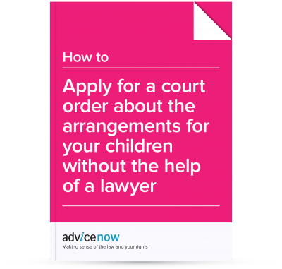 Applying for a child arrangements order