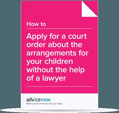 Applying for a child arrangements order