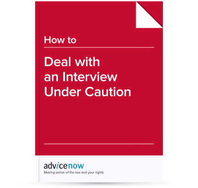 Picture of the front cover of our guide to how to Deal with an Interview under caution