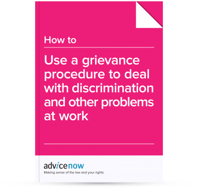 how to use a grievance procedure to deal with discrimination and
