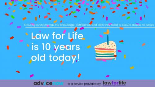 Law for Life's 10th birthday celebration image