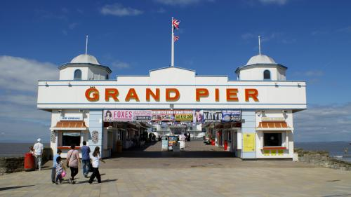 Entrance to the grand pier at the seaside. Photo by Becks Hobbs Photography