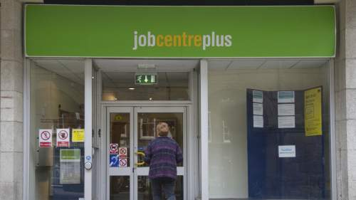 Woman going to job centre